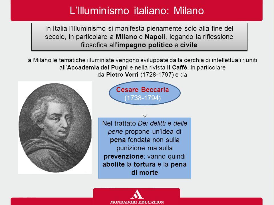 L'Illuminismo italiano: Milano