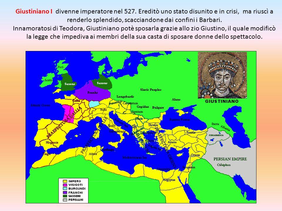 Giustiniano I divenne imperatore nel 527