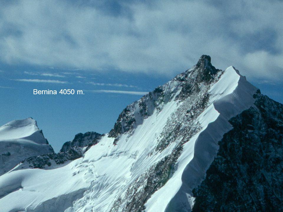 Monte Rosa 4637 m. Cervino 4478 Bernina 4050 m. Finsteraarhorn 4274 m.
