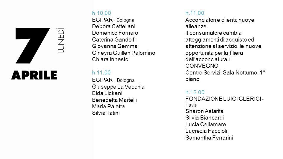 h.10.00 ECIPAR - Bologna. Debora Cattellani. Domenico Fornaro. Caterina Gandolfi. Giovanna Gemma.