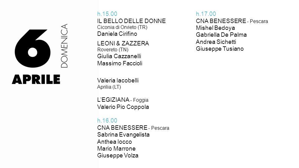 CNA BENESSERE - Pescara Sabrina Evangelista Anthea Iocco Mario Marrone