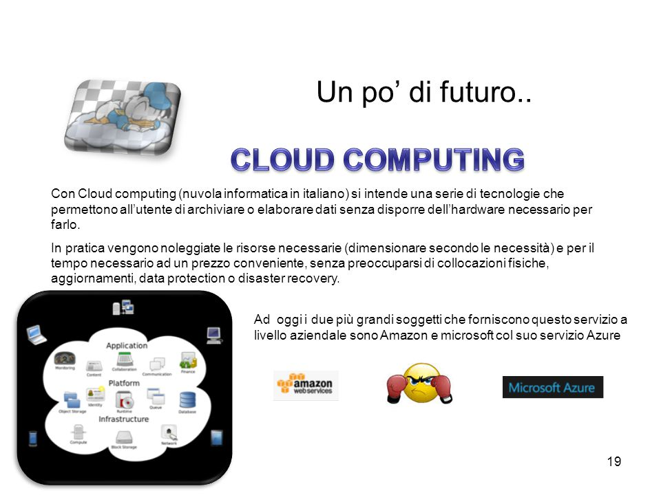 Un po' di futuro.. CLOUD COMPUTING