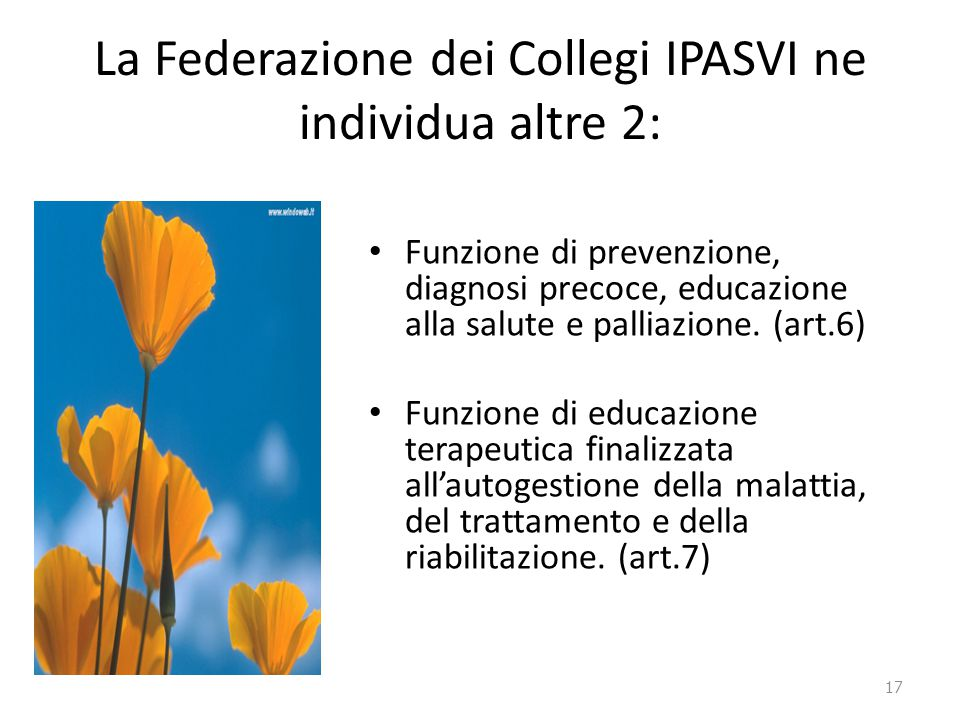 La Federazione dei Collegi IPASVI ne individua altre 2: