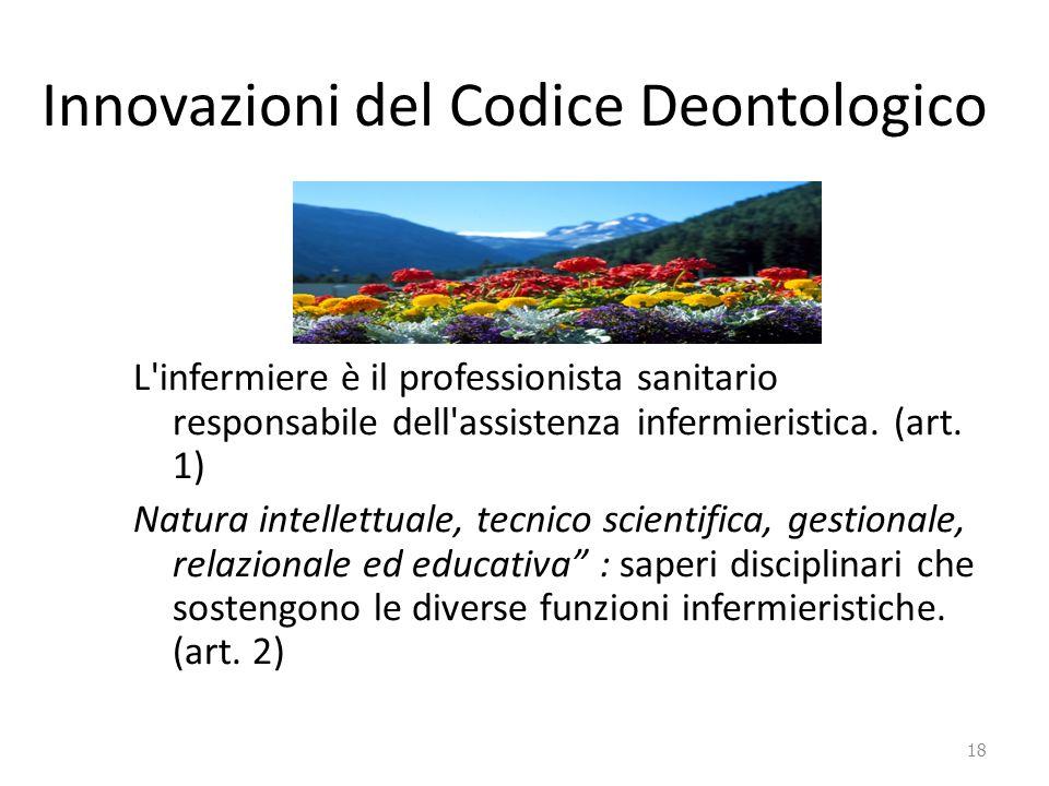 Innovazioni del Codice Deontologico