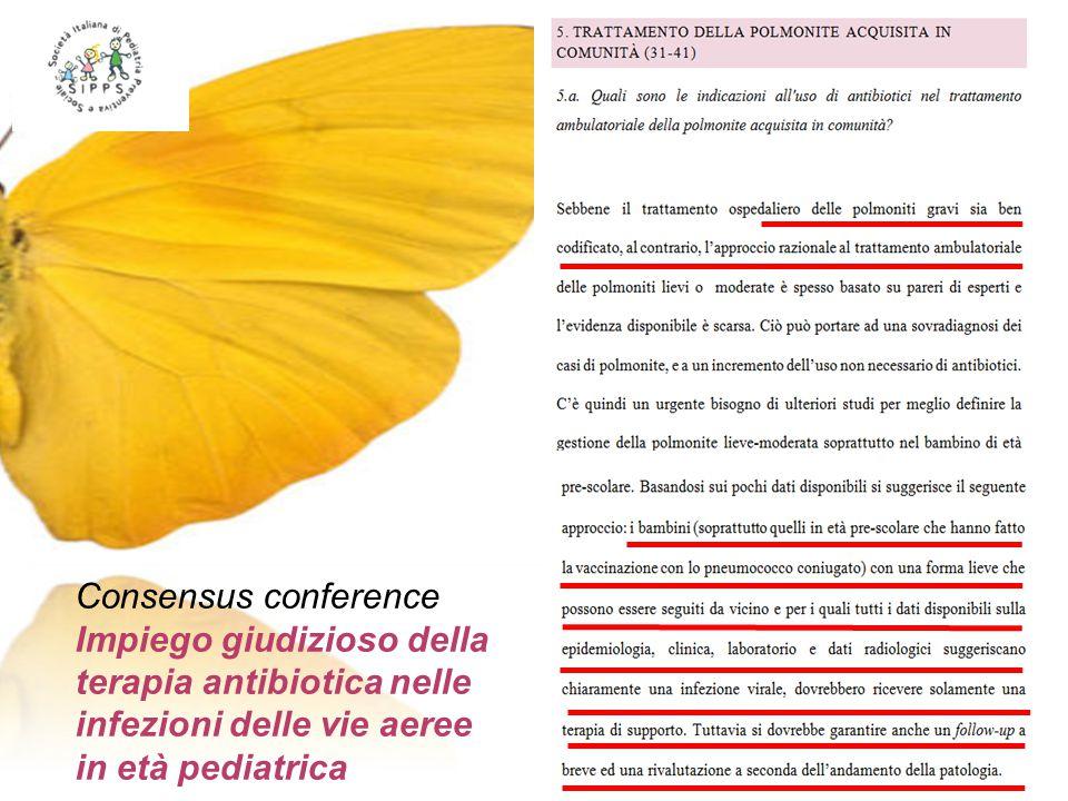 Consensus conference Impiego giudizioso della terapia antibiotica nelle infezioni delle vie aeree in età pediatrica.