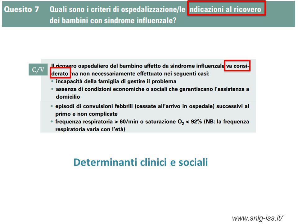 Determinanti clinici e sociali