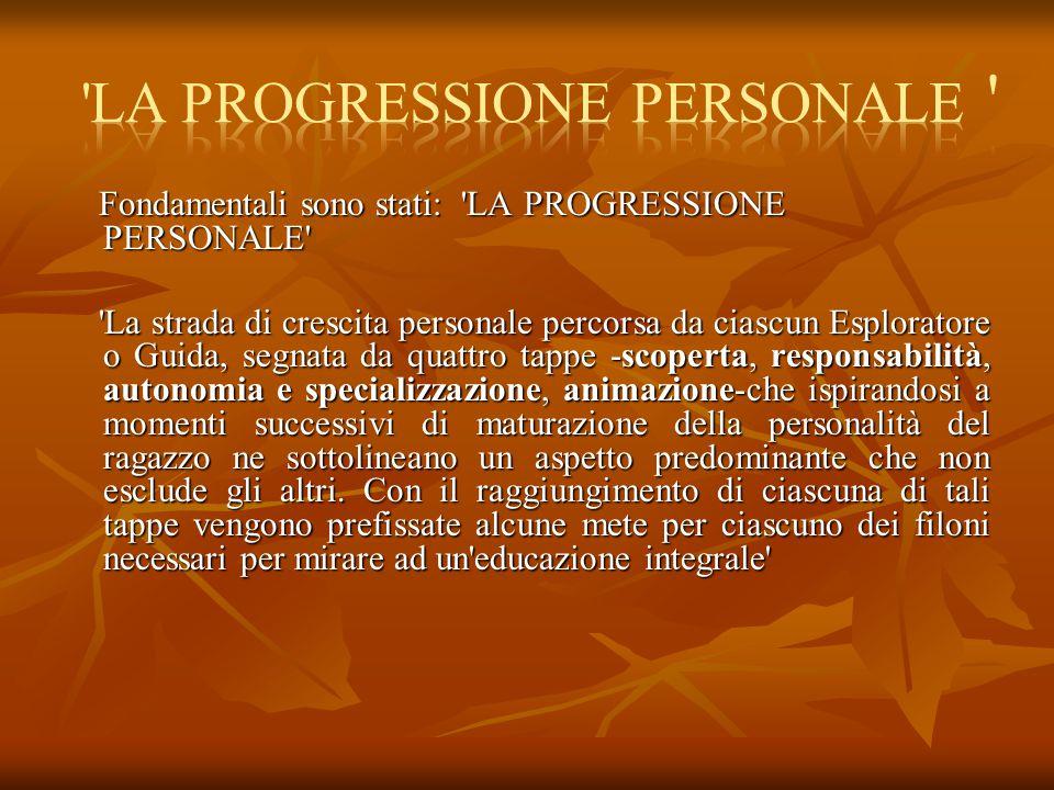 LA PROGRESSIONE PERSONALE