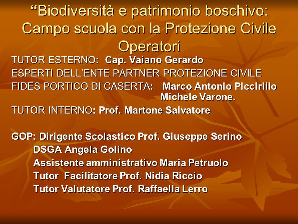 Biodiversità e patrimonio boschivo: Campo scuola con la Protezione Civile Operatori