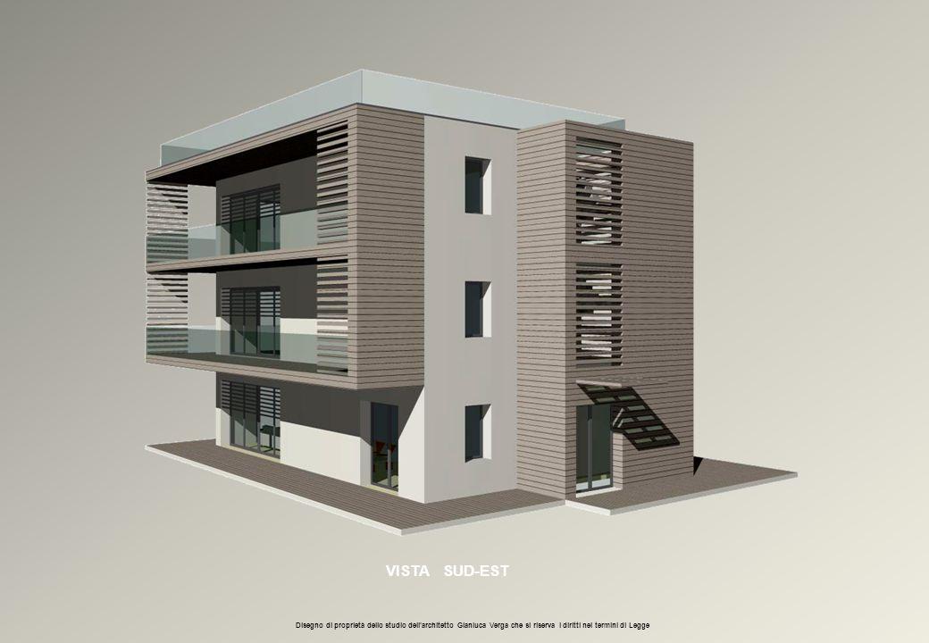 VISTA SUD-EST Disegno di proprietà dello studio dell'architetto Gianluca Verga che si riserva i diritti nei termini di Legge.