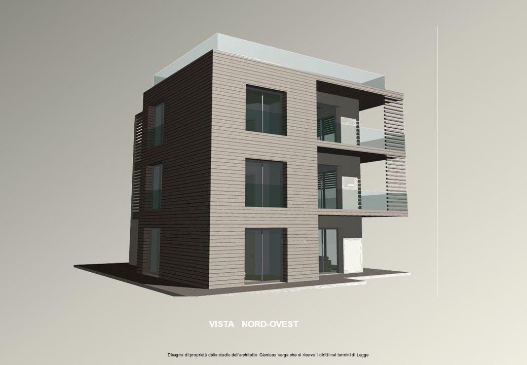 VISTA NORD-OVEST Disegno di proprietà dello studio dell'architetto Gianluca Verga che si riserva i diritti nei termini di Legge.