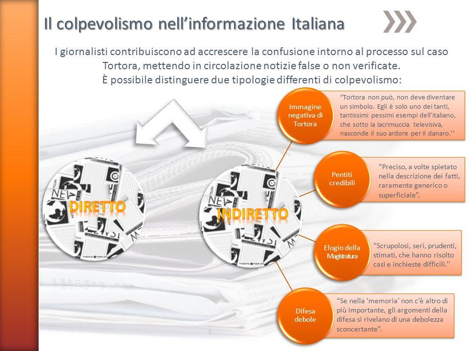 Il colpevolismo nell'informazione Italiana