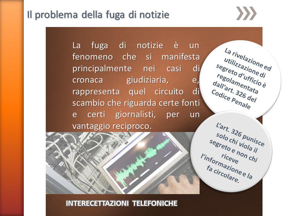 INTERECETTAZIONI TELEFONICHE