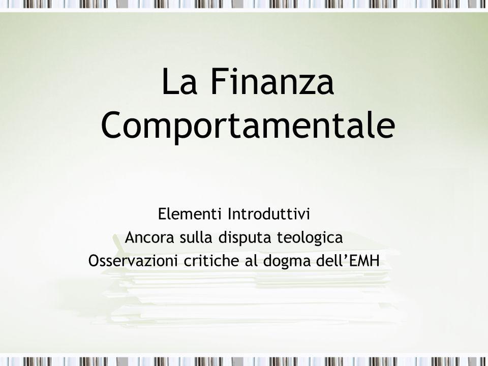 La Finanza Comportamentale