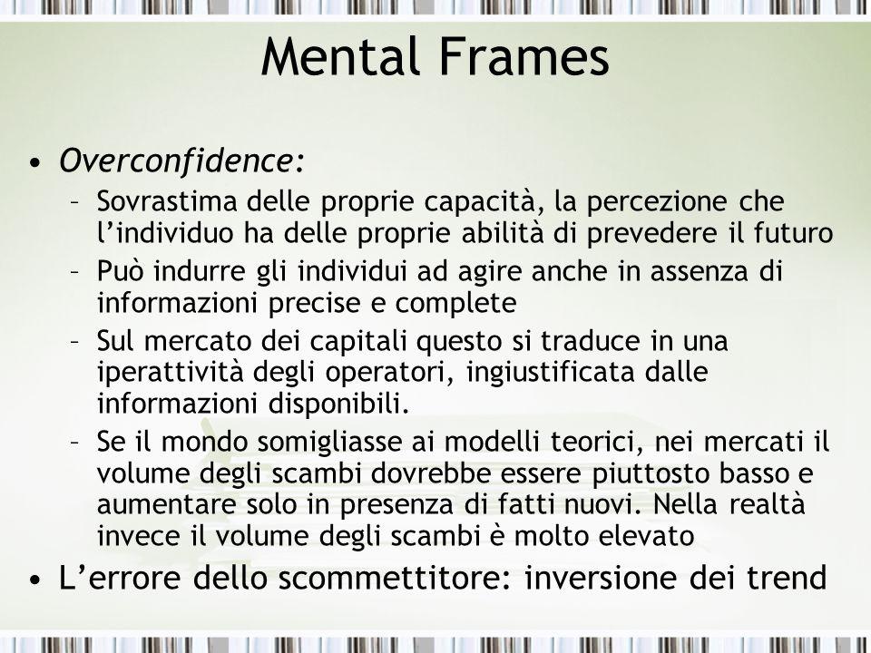 Mental Frames Overconfidence: