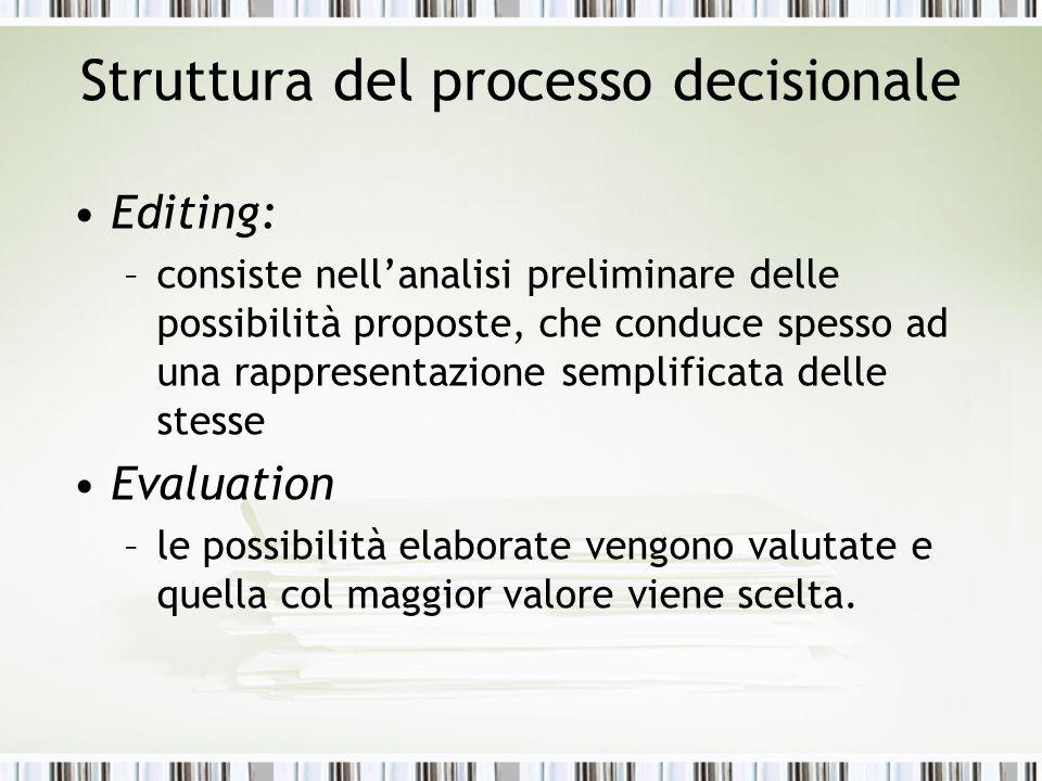 Struttura del processo decisionale