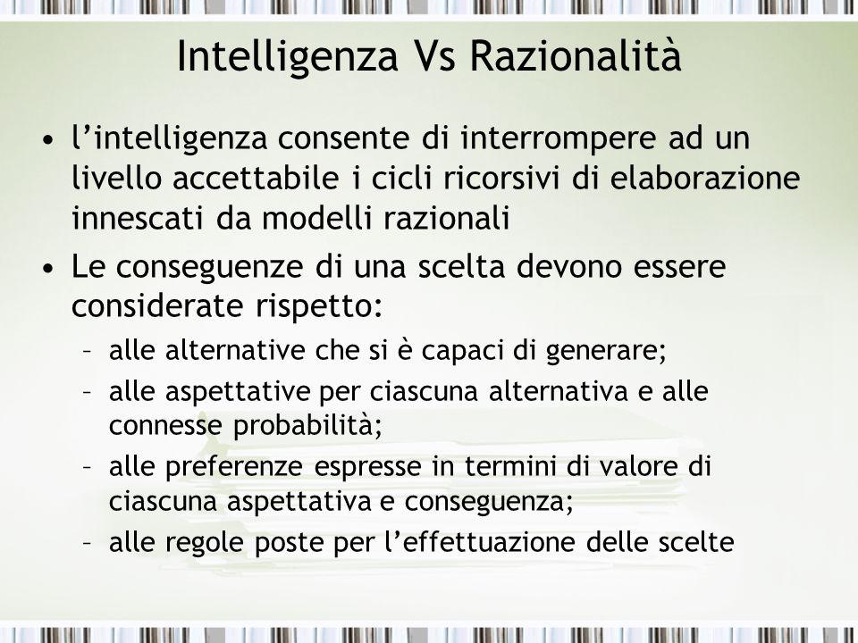 Intelligenza Vs Razionalità
