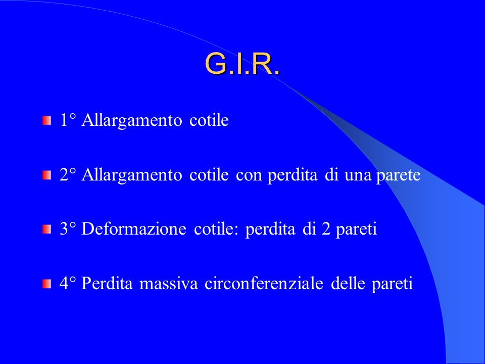 G.I.R. 1° Allargamento cotile