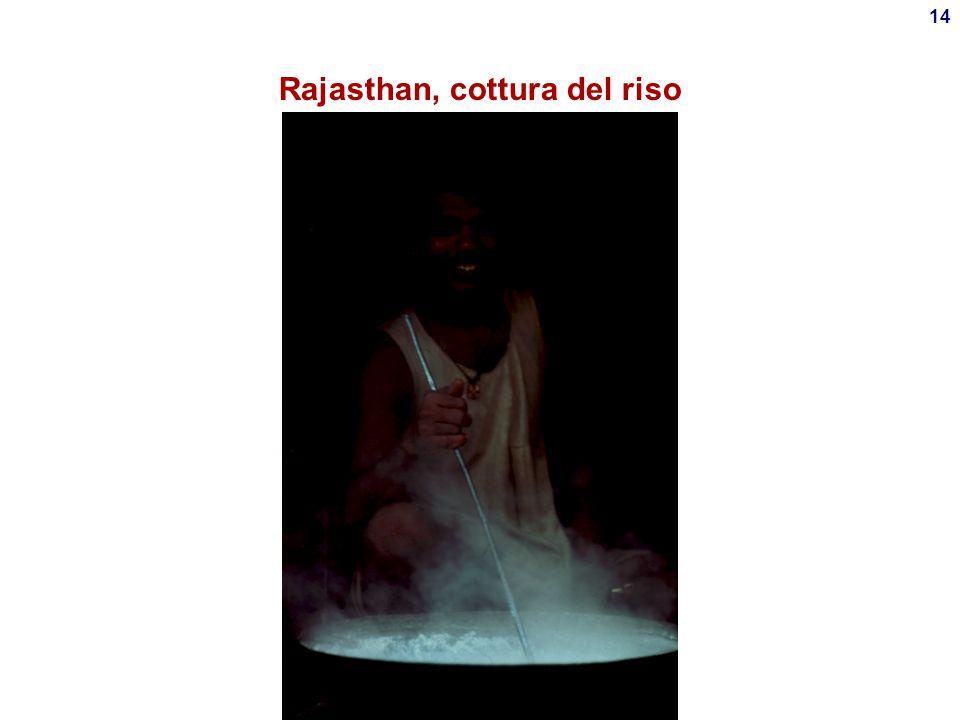 Rajasthan, cottura del riso