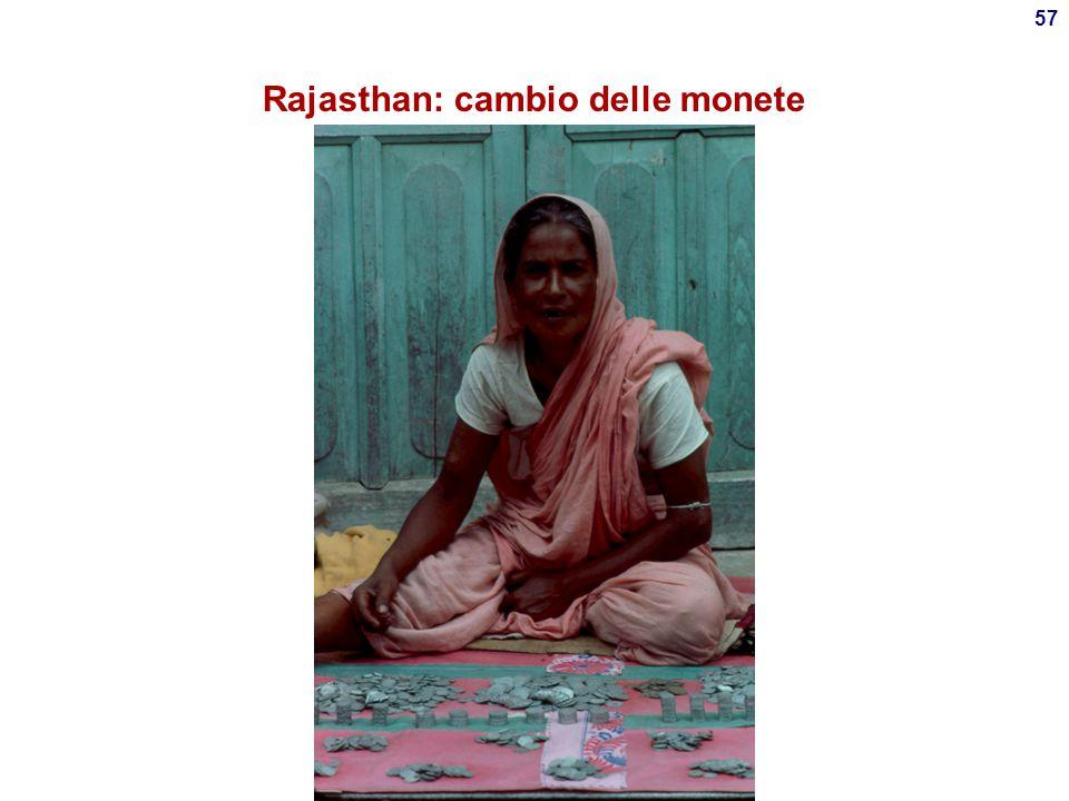 Rajasthan: cambio delle monete