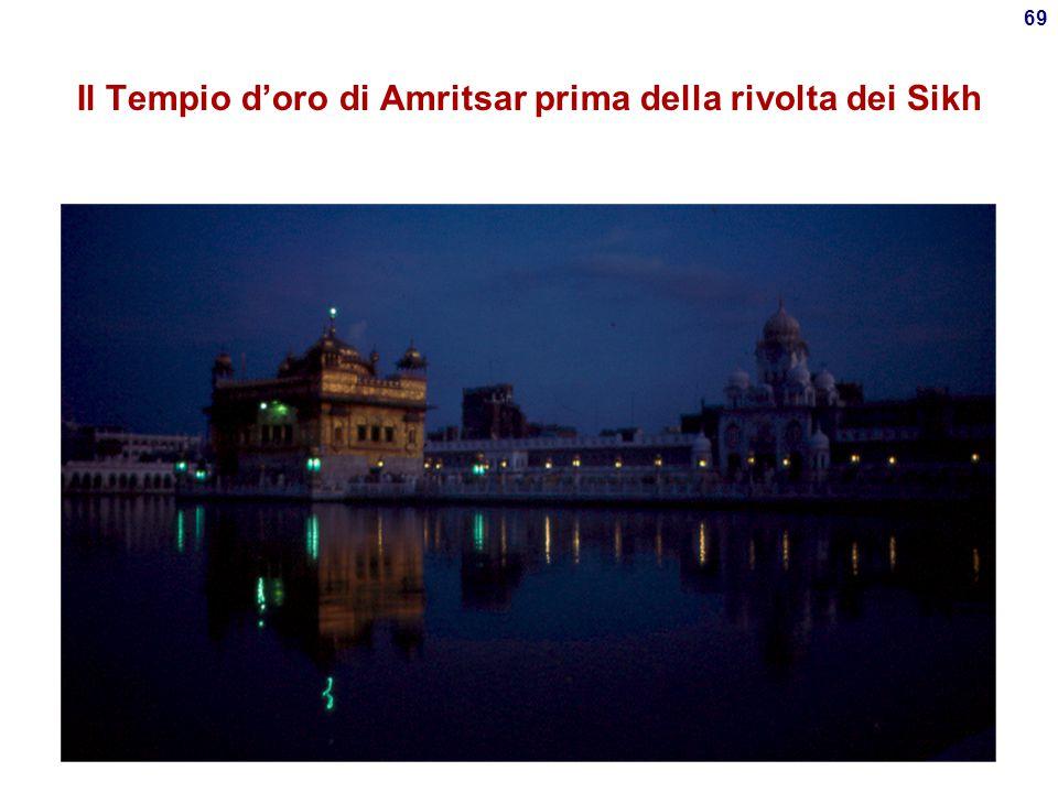 Il Tempio d'oro di Amritsar prima della rivolta dei Sikh
