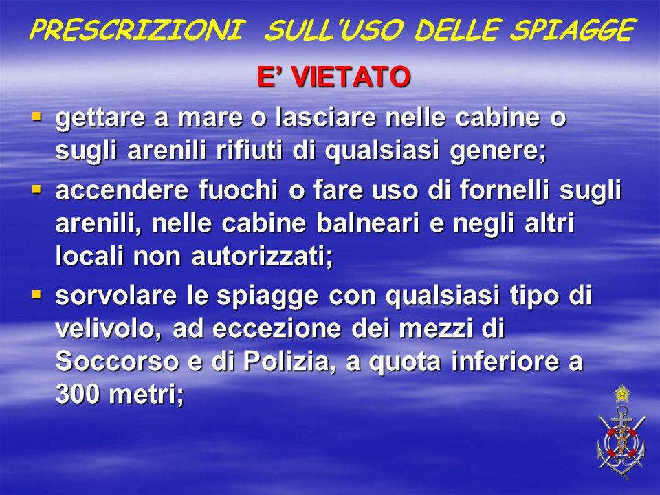 Ordinanza balneare capitaneria di porto di savona ppt for Alloggio ad ovest delle cabine