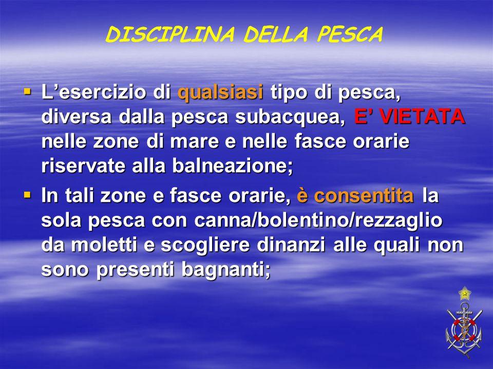 DISCIPLINA DELLA PESCA