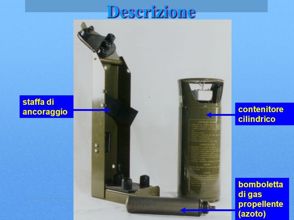 Descrizione staffa di ancoraggio contenitore cilindrico