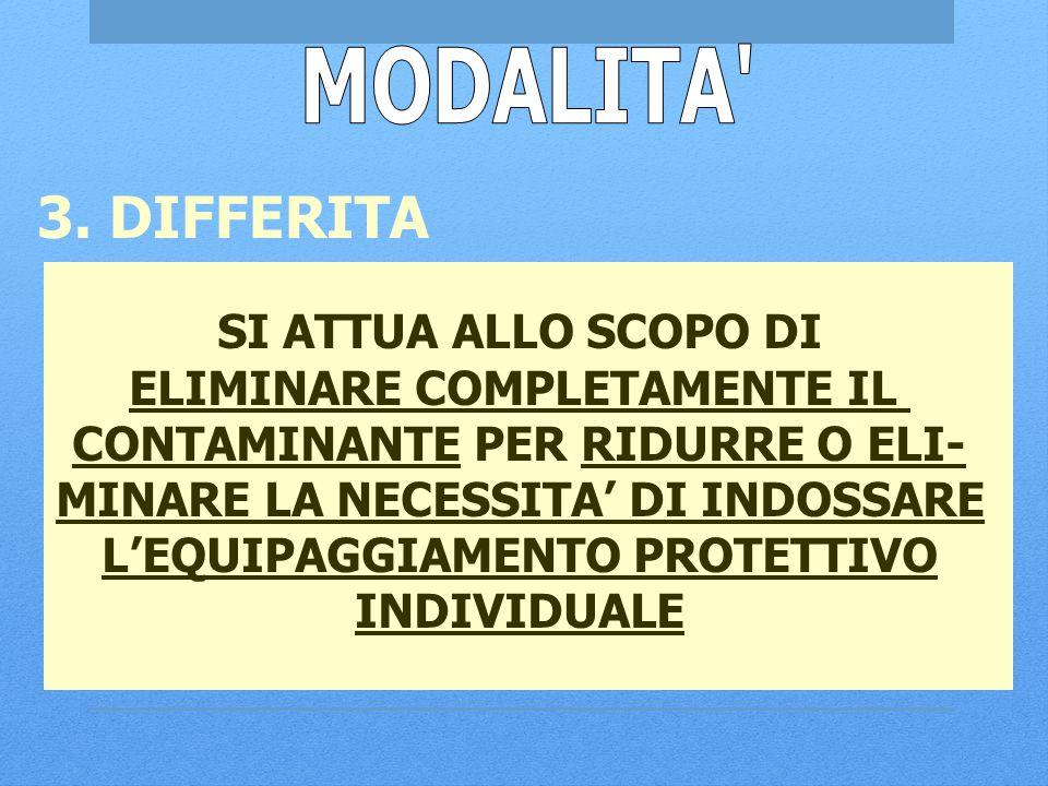 MODALITA 3. DIFFERITA SI ATTUA ALLO SCOPO DI