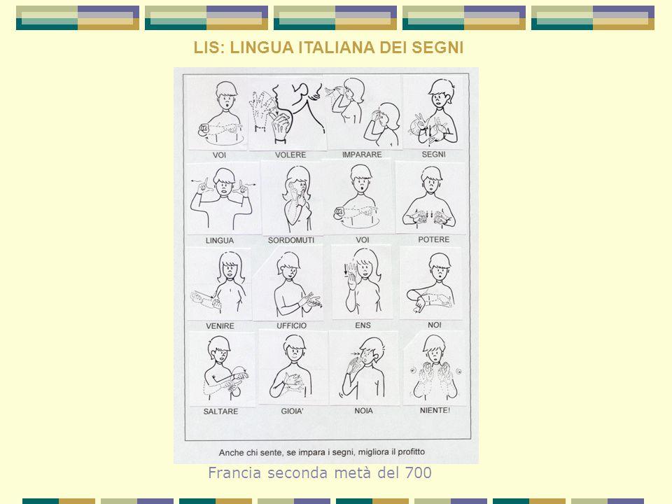 LIS: LINGUA ITALIANA DEI SEGNI