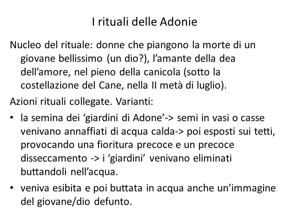 I rituali delle Adonie