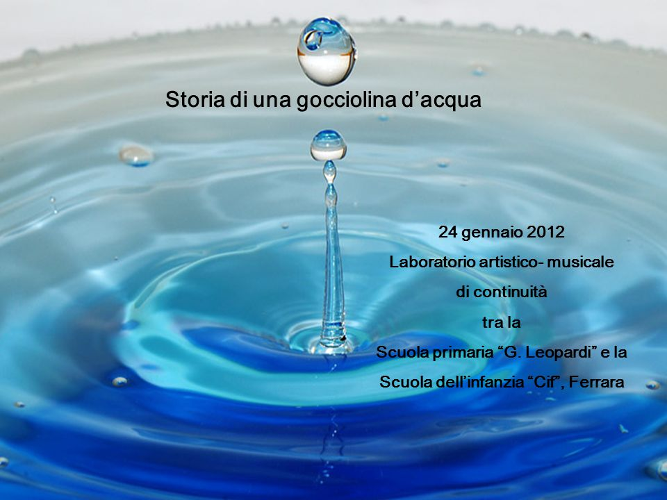 Storia di una gocciolina d'acqua