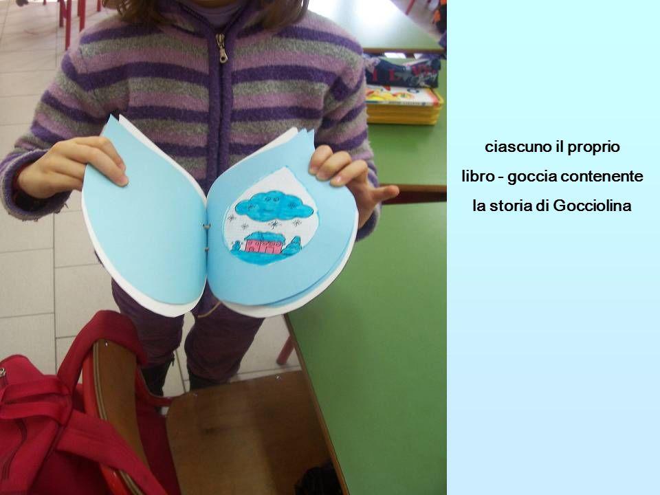 libro - goccia contenente la storia di Gocciolina