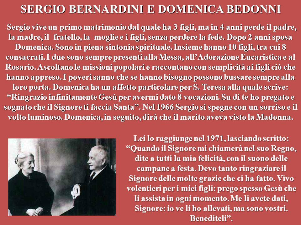 SERGIO BERNARDINI E DOMENICA BEDONNI