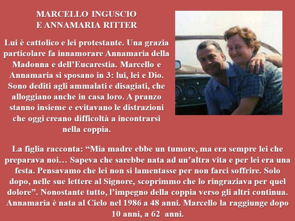 MARCELLO INGUSCIO E ANNAMARIA RITTER.