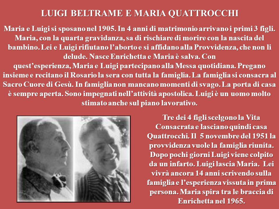 LUIGI BELTRAME E MARIA QUATTROCCHI