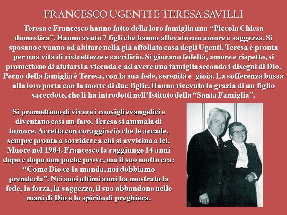 FRANCESCO UGENTI E TERESA SAVILLI