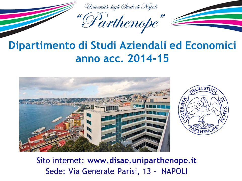 Dipartimento di Studi Aziendali ed Economici anno acc. 2014-15