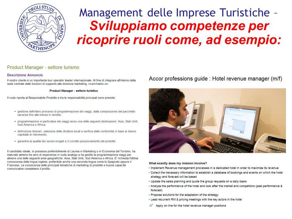 Management delle Imprese Turistiche – Sviluppiamo competenze per ricoprire ruoli come, ad esempio: