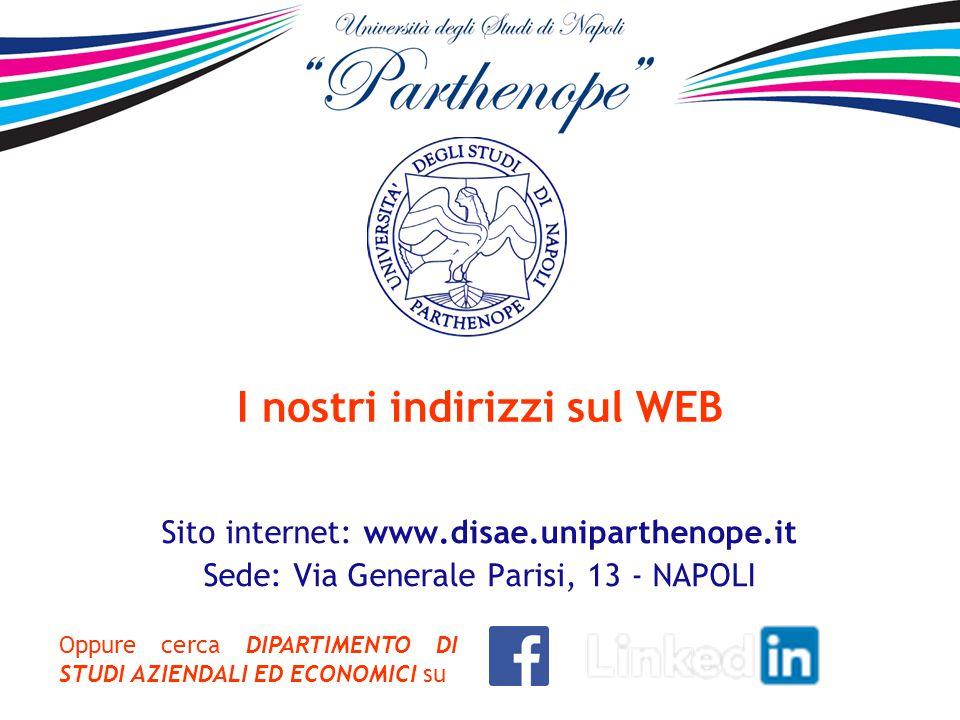 I nostri indirizzi sul WEB