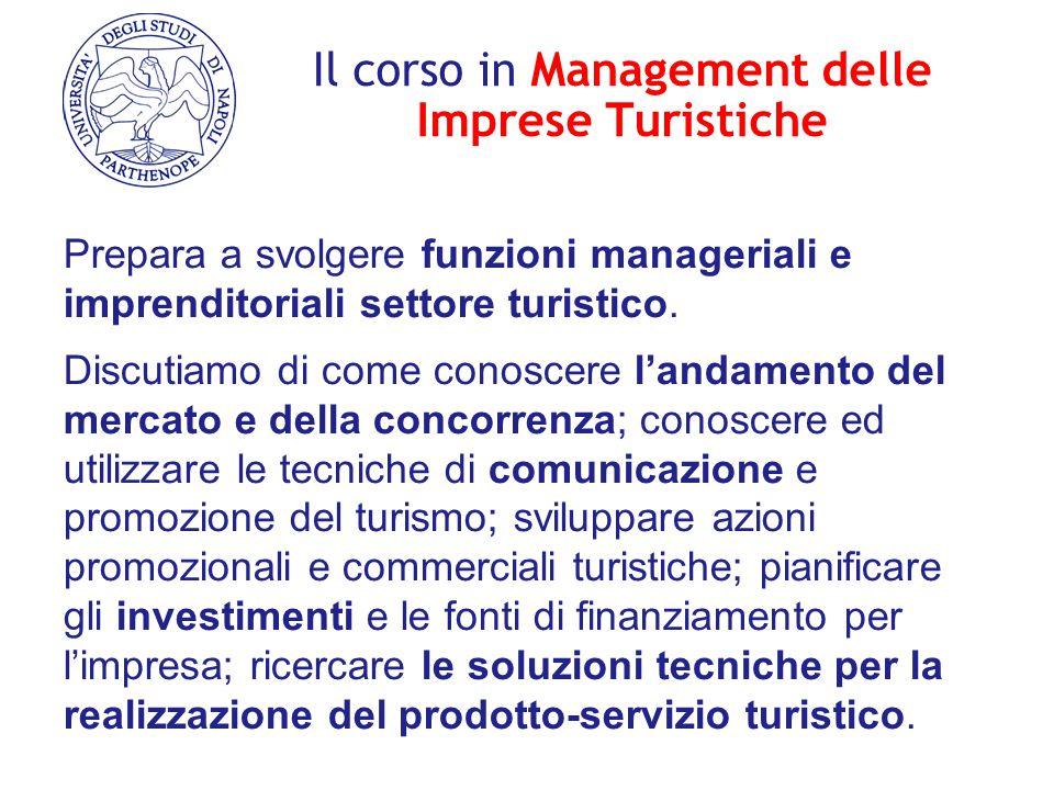 Il corso in Management delle Imprese Turistiche