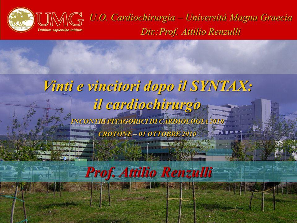 Vinti e vincitori dopo il SYNTAX: il cardiochirurgo