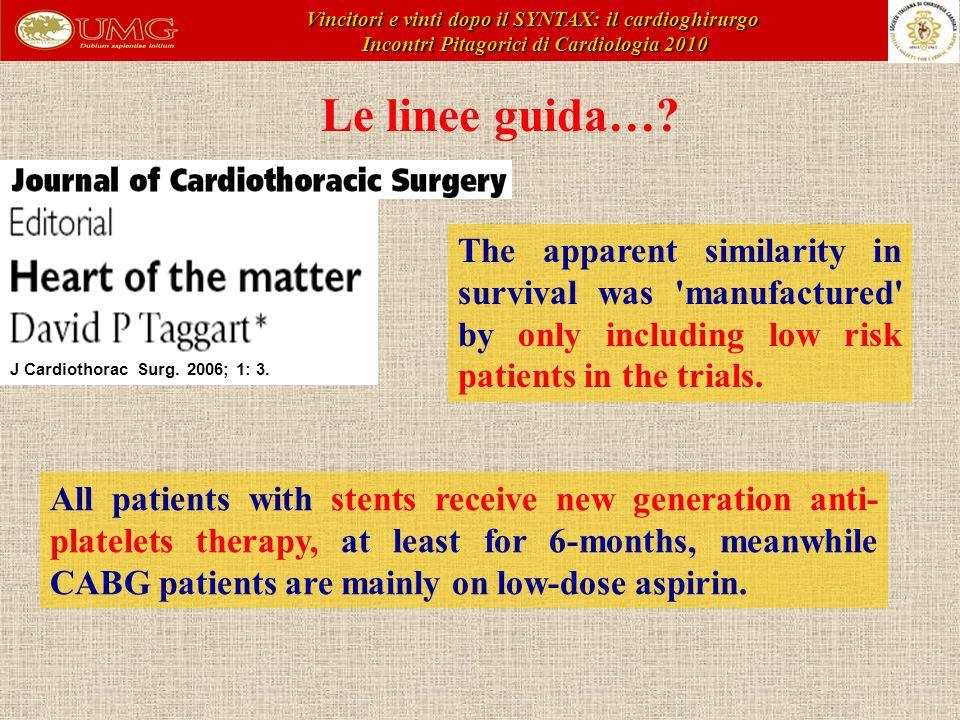 Vincitori e vinti dopo il SYNTAX: il cardioghirurgo