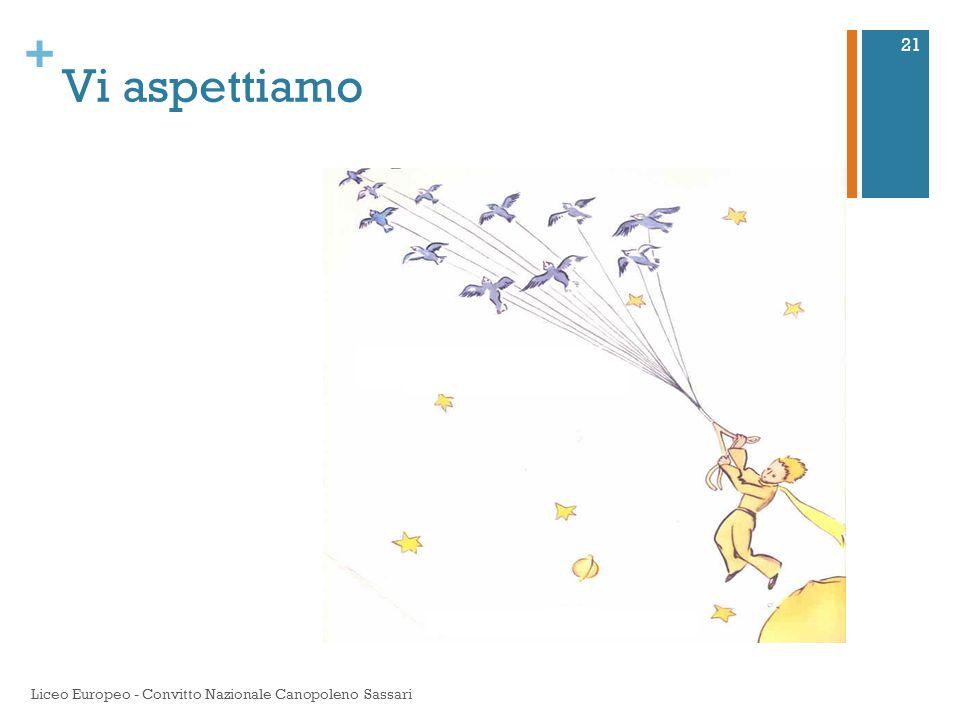 Vi aspettiamo Liceo Europeo - Convitto Nazionale Canopoleno Sassari