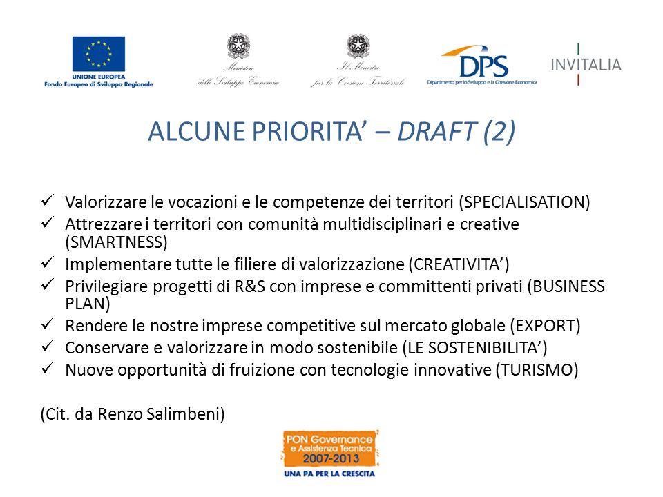 ALCUNE PRIORITA' – DRAFT (2)