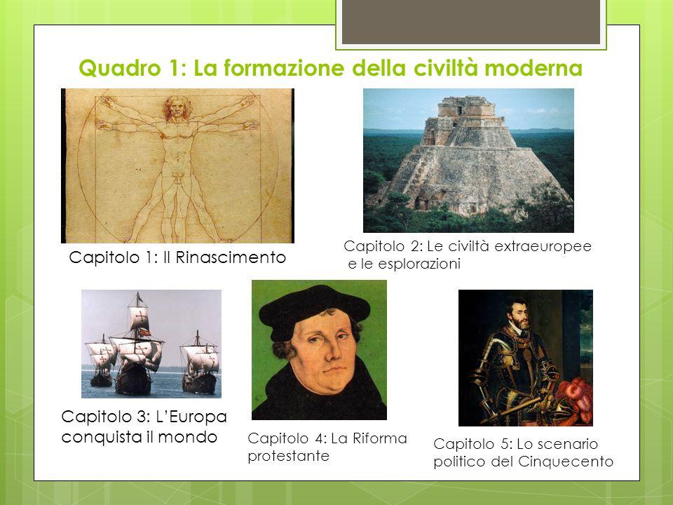 Quadro 1: La formazione della civiltà moderna