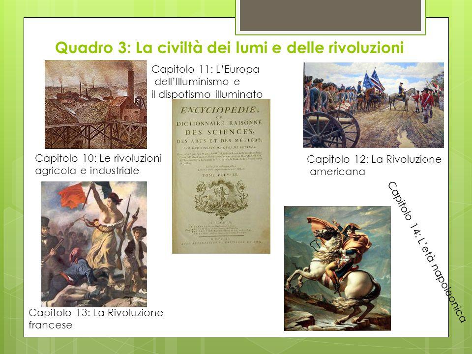 Quadro 3: La civiltà dei lumi e delle rivoluzioni