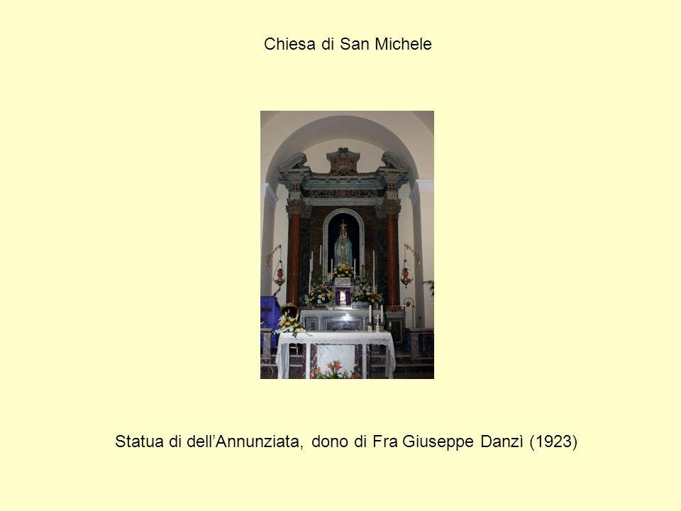 Statua di dell'Annunziata, dono di Fra Giuseppe Danzì (1923)