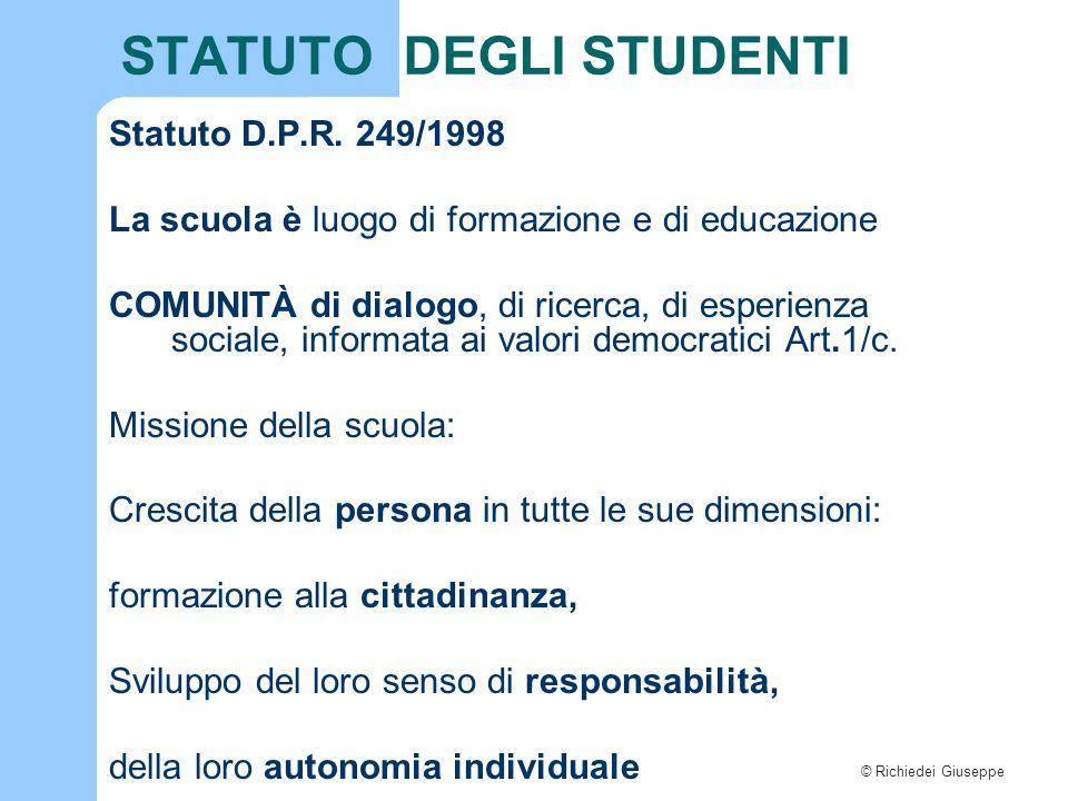 STATUTO DEGLI STUDENTI