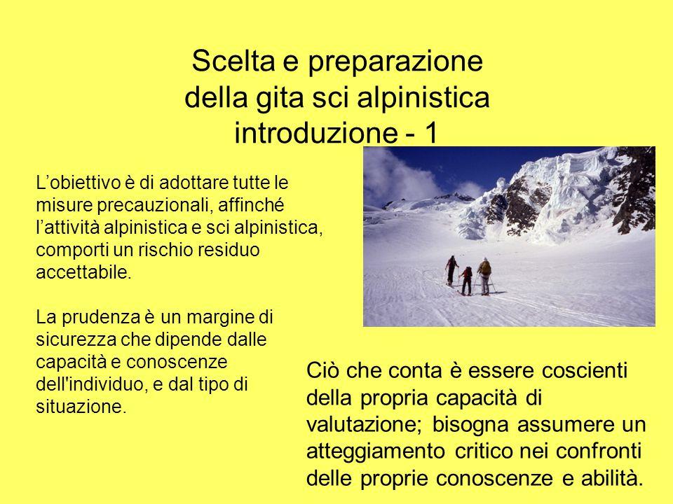 Scelta e preparazione della gita sci alpinistica introduzione - 1