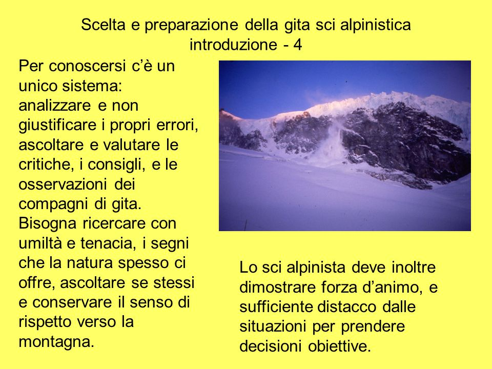 Scelta e preparazione della gita sci alpinistica introduzione - 4